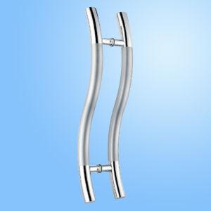 Aço inoxidável puxador da porta de vidro de porta (FS-1867)