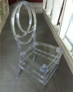 빨간 PU 방석을%s 가진 합성 수지 쌓을수 있는 피닉스 백색 의자