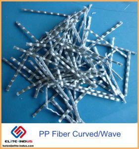 48mm 54mm Onda Curvos Formulário com relevo de fibra de plástico polipropileno para reforço de concreto