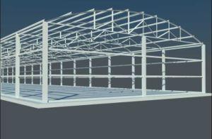 El bastidor de la luz de la construcción de prefabricados de estructura de acero/edificio