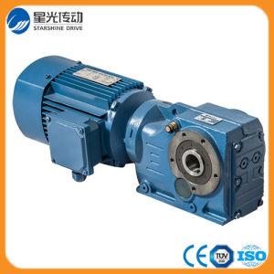 Fabricante de motores con engranajes cónicos helicoidales de la serie K.