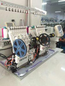Misch2 Kopf-Stickerei-Maschine mit Sequin u. schnürender Stickerei