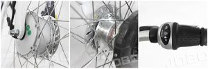 شخصيّة ناقل مدينة درّاجة كهربائيّة مع [دريف موتور] أماميّ ([جب-تدب28ز])