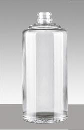 Bottiglia di cristallo all'ingrosso del liquore con il Frosting e la decalcomania 1000ml