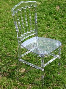 명확한 수정같은 합성 수지 나폴레옹 결혼식 의자