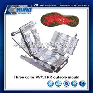 Tres colores de la suela de PVC/TPR Molde