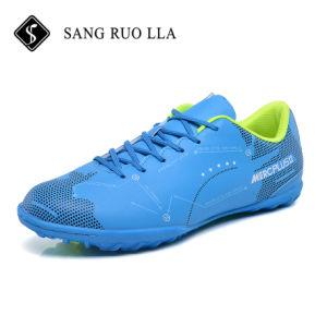 Nuevo diseño profesional Popular Mens azul todos los zapatos de fútbol en venta