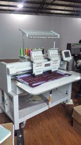 Macchina a base piatta del ricamo protezione/dell'indumento automatizzata doppia/multi testa con 9 colori per