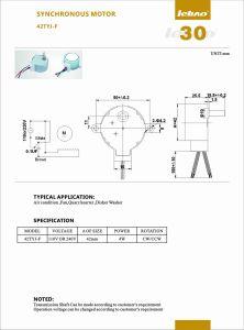 Mini Reversible síncrono Motorreductor para luces de la etapa