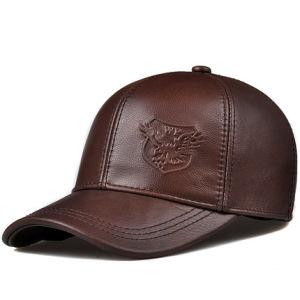 Moda promocional personalizado PU PAC Militar de couro Sports Boné Chapéus de homem do Visor