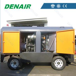Compresor de Aire de Tornillo Rotativo Móvil Impulsado por Motor Diesel