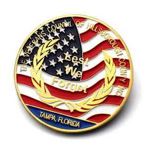 記念品の円形の金属の金の銀貨を苦闘する美しいデザイン亜鉛合金アメリカ米国