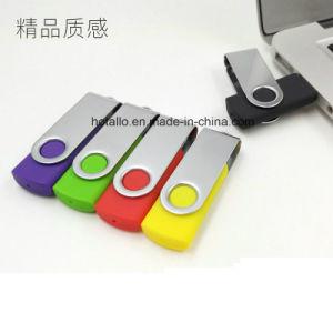USB giratorio clásico colorida unidad flash USB con Logo