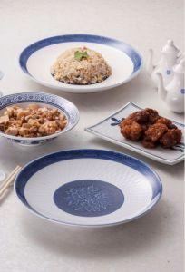 La mélamine en bleu et blanc de la vaisselle/plaque ronde de mélamine (13827-10)