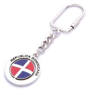 승진 금속 기념품 회전시키는 사기질 깃발 열쇠 고리 (BK1163)