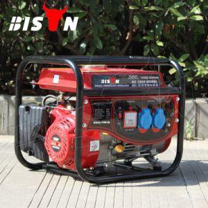 バイソン(中国) BS1800b 1kw 1kVA 220V AC単一フェーズのベテランの製造者円形フレーム力ガソリン発電機