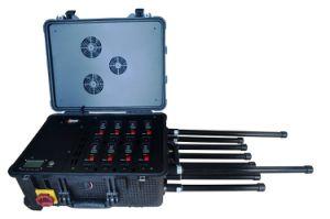 Stoorzender van de Signalen 3G/4G/WiFi/UHF/VHF van de Telefoon van de Cel van de Stoorzender van de Bom van de hoge Macht de Draagbare Tactische