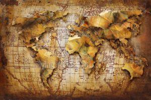 [3د] حديد خريطة [أيل بينتينغ] معدن فنية لأنّ زخرفة بيتيّ