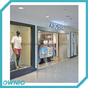 Hot Centro Comercial Puerta, enmarcado en aluminio puerta telescópica automática
