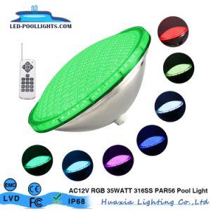 316ss RVB PAR AC12V56 LED lampe sous-marine de la piscine avec télécommande
