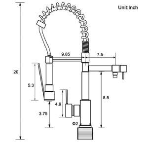 Flg 고품질 크롬 손잡이 또는 구멍 부엌 개수대 꼭지