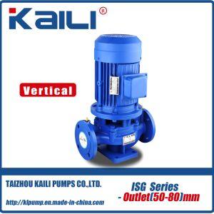 Pompa ad acqua centrifuga della conduttura verticale di serie dell'ISG (outlet50-80mm)