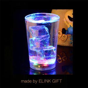 260ml 10oz LED intermitente do testemunho de plástico Beer Cup Copa do suco de uma caneca de cerveja com pega