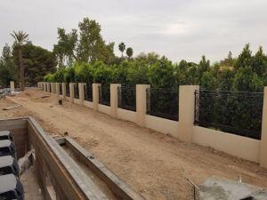 カスタマイズされた手造られた熱い電流を通された錬鉄の塀