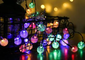 축제와 Decorate Colorful Bubble Outdoor Christmas 30 LED Solar 정원 String Light