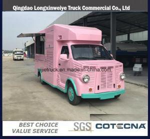 移動式食糧トラックを販売する新しいデザイン4*2 Euro4ガソリンアイスクリームかコーヒーまたはファースト・フード