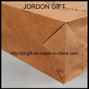 Sacchetto di acquisto personalizzato della carta kraft Per insalata, pasticceria, dessert, caffetteria asportabile