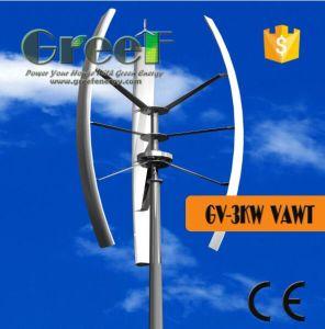 Turbine van de Wind van het dak de Hoogste, 1kw 3kw 5kw de Verticale Turbine van de Wind van de As