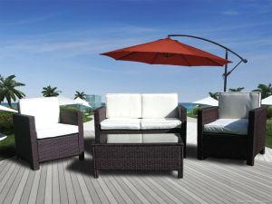 mobilia di vimini esterna del rattan del patio dell'hotel di svago del giardino 4-PCS (T-081)