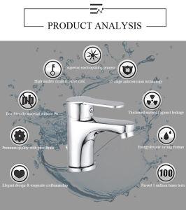 普及したセリウムの公認のヨーロッパの市場はハンドルのクロム真鍮の洗面器のコックを選抜する