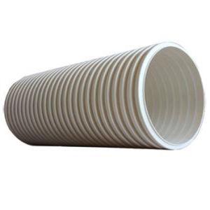Color amarillo al por mayor de 24 PVC corrugado de pared doble tubo de drenaje
