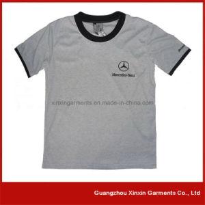 자신의 로고 (R130)를 가진 주문 고품질 면 남자의 인쇄 t-셔츠
