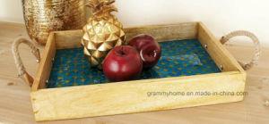 贅沢なよじ登る台所棒ホテル2部分の木製のモザイクロープの皿セット