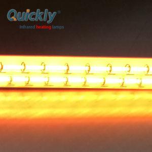 O tubo de quartzo rapidamente a lâmpada de aquecimento por infravermelhos de halogéneo