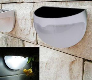 LED-Garten-Dekoration-energiesparende Ansicht-Solarhalbrund-Wand-Licht