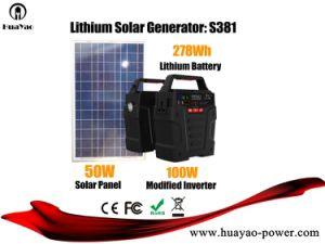 가정 사용 태양 에너지 발전기 태양 에너지 장비 100W 278wh