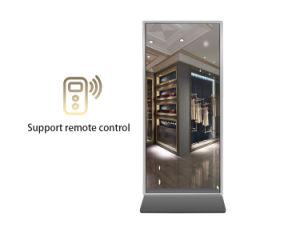 Plancher de 50 pouces Magic Mirror permanent Interactive Ad player lecteur vidéo multimédia de réseau de signalisation numérique HD LCD Affichage de publicité