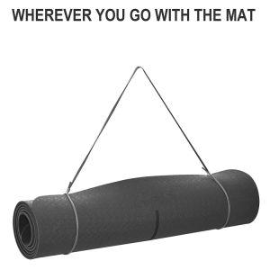 Imprimir el patrón de sudor Anti-Skid Portable Gimnasio Manta ejercicio Pilates