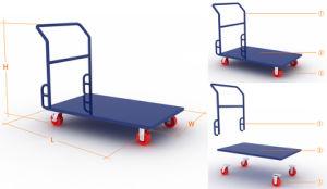 Piattaforma resistente - carrello