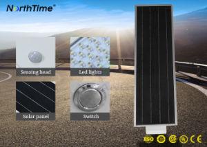 Sensor de movimiento del cuerpo blanco frío Solar LED integrada de la luz de la calle