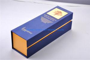 Luxury única garrafa de vinho tinto, Caixa para presente cartão com espuma de EVA inserir o logotipo personalizado Aceitar