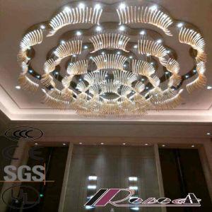 Morden e Flor de tamanho grande rodada Hotel Lâmpada Pendente de cristal de Luxo
