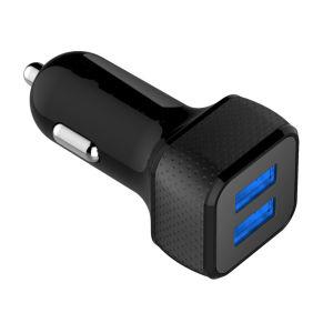 4.8A24W carregador de automóvel do smartphone de 2 portas para telefone celular