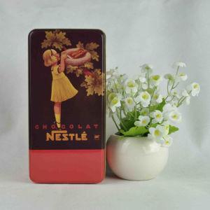Caja de estaño rectangular para el Chocolate y Dulces de Regalo de estaño Embalaje