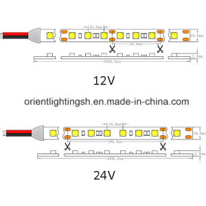 UL CE5050 SMD 60 LEDs/M IP43 Luz de LED