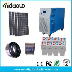 Kit Solar Grade desligado 1,5 KW 4.8KWH solar grande banco de gel 5kVA/ 4kw/Carregador Inversor PWM 60A